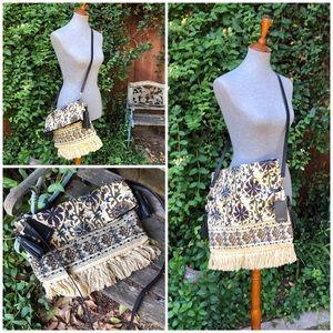 Zara Convertible Fringe Crossbody Bag